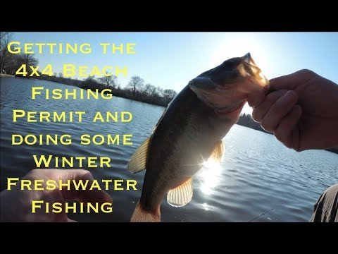 Getting the 4x4 Beach Fishing Permit and doing some Winter Freshwater Fishing