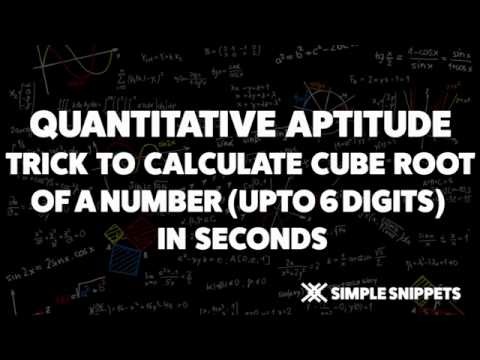 Cube Root of any number in Seconds | Cube Root Trick