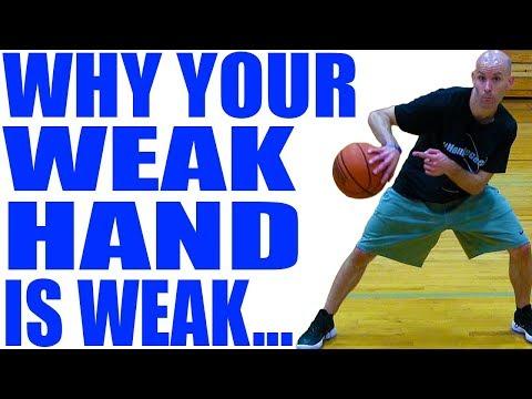 WHY Your Weak Hand Is WEAK! Dribbling & Layup Basketball Development Drills