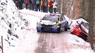 rallye monté carlo 2016:crash Kubica, Bertelli,Tanack,Paddon....et très gros passages