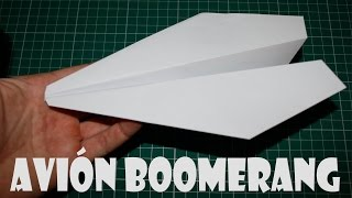How To Make A Paper Airplane Boomerang Returns