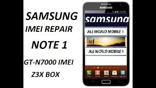 N910c 6 0 1 Imei Repair With Z3x 100%