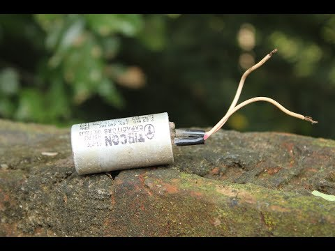 How to make a power saver using fan capacitor at home/save electricity