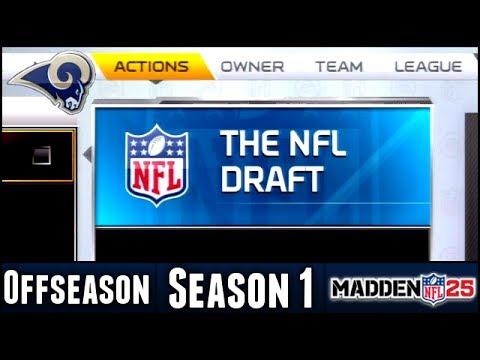 Madden 25 Rams Connected Franchise - Offseason NFL Draft - Season 1