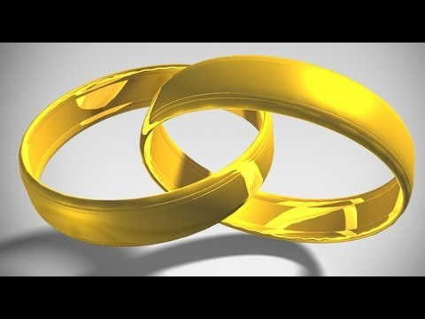 Photoshop Tutorial: How to Make 3D, Interlocking GOLD RINGS