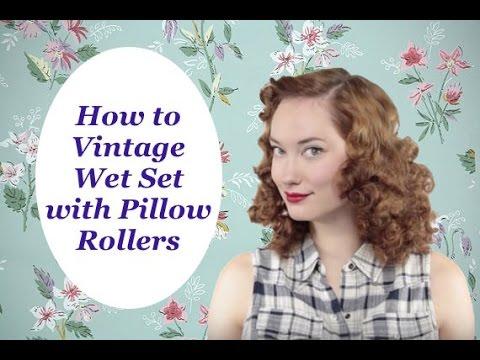 How to Vintage Wet Set Pillow Rollers The Rachel Dixon Tutorial Retro Pinup Rockabilly 40's Classic