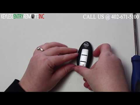How To Replace Nissan Murano Key Fob Battery 2005 - 2013