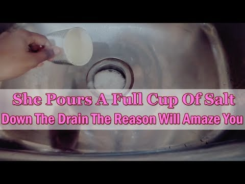 She Pours a Cup of Salt Down the Drain. Reason Will Amaze You |Unclog Drain with Salt & Baking Soda