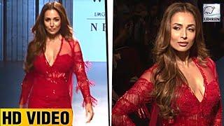 Malaika Arora Khan Looks GLAMOROUS At Lakme Fashion Week 2017   Lehren TV