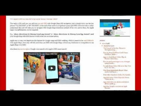 How can I use SIRI on Google Maps App on iPhone, iPad, iPod Touch, iPad Mini?