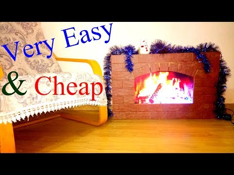 How to Make a Fake Fireplace of NORMAL SIZE at Home Cheap and Fast