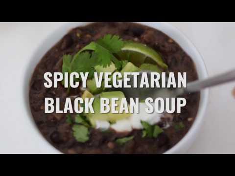 Spicy Vegetarian Black Bean Soup Recipe