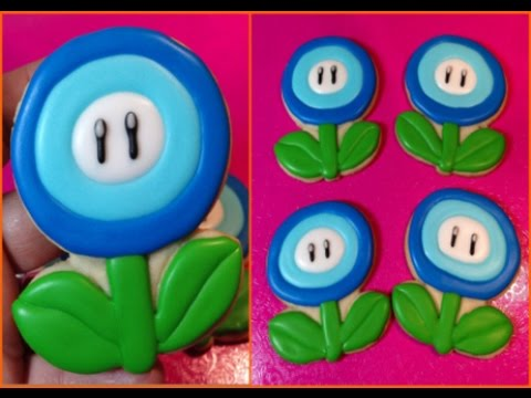 Super Mario Bros. Ice Flower Cookies (How To)