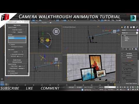 CREATING CAMERA WALK-THROUGH ANIMATION 3D MAX TUTORIAL