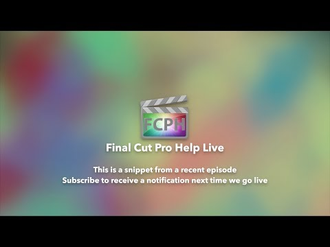 Final Cut Pro Help Live Snippet | Episode 10 | Matching Text Color With On Screen Color