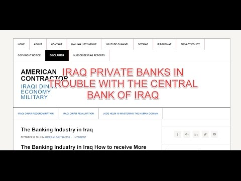 Central Bank of Iraq to put Private Banks on Notice