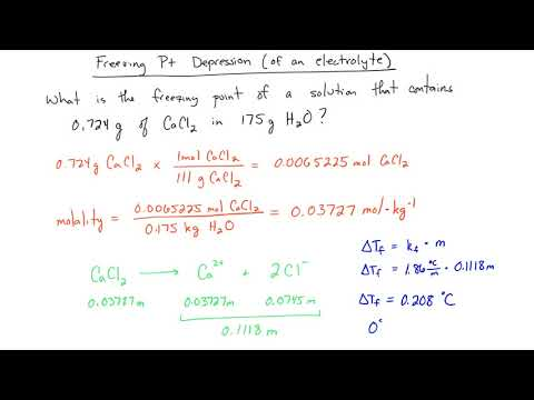 Freezing Point of an Electrolyte and the van't Hoff Factor