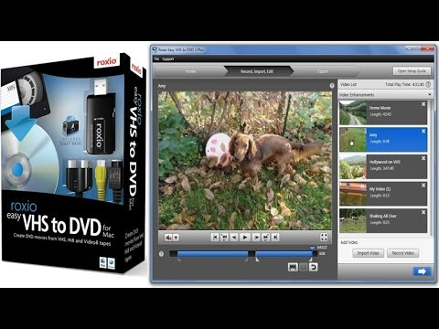 Roxio Easy VHS To DVD 3 Plus To Transfer VHS, Hi8, V8 or Analog Camcorder's Videos To DVD
