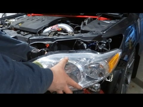 How to Remove and Install a Headlight on a Car (2009-2013 Toyota Corolla)