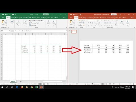 Copy Paste Data from Excel to PowerPoint Without Loosing Formatting