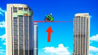 MILE HIGH IMPOSSIBLE TIGHTROPE CHALLENGE! (GTA 5 Funny Momens)