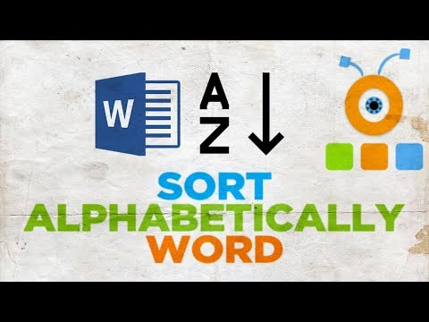 How to Sort Alphabetically in Microsoft Word | How to Put Words in Alphabetical Order in Word