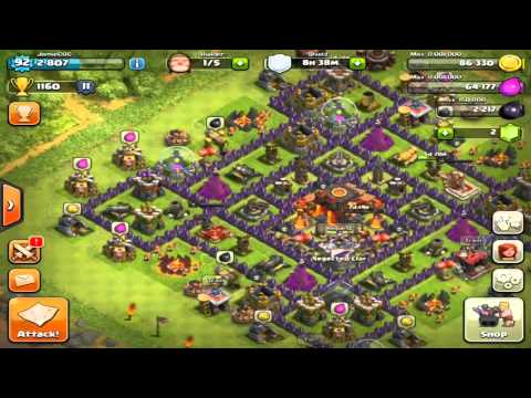 Clash of Clans - Valkyrie New Attack Move Max Out Raid!