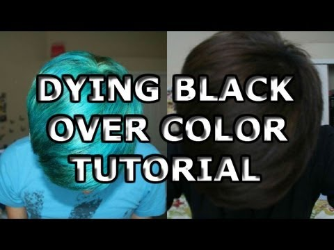 Dying Black Over Color Tutorial