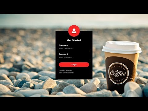 How To Create Login Form In HTML and CSS | Sign In Form Design