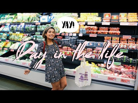 VEGAN GROCERY SHOPPING + DAY IN THE LIFE | Healthy in College