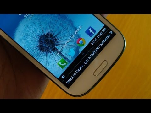 Facebook Lock Ticker for Samsung Galaxy S3 with Jelly Bean 4.1.2