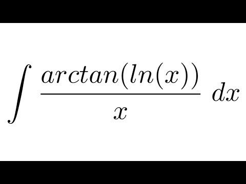 Integral of arctan(ln(x))/x (substitution)