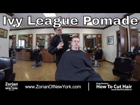 Ivy League Haircut Styled with Classic Pomade - Greg Zorian Pomade Tutorial