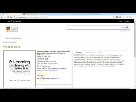 Linking to an ebook in MyiLibrary from Blackboard
