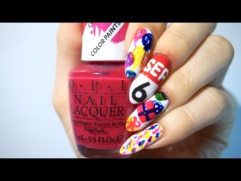 Easy Birthday Nailart | Neons!
