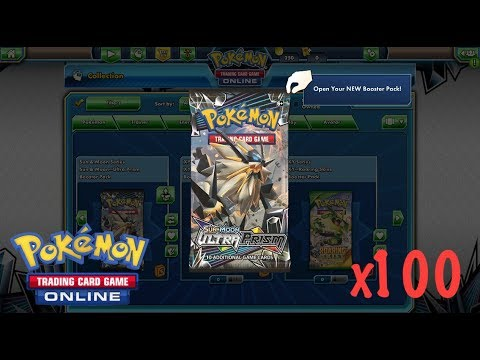OPENING 100 ULTRA PRISM BOOSTER PACK ONLINE!