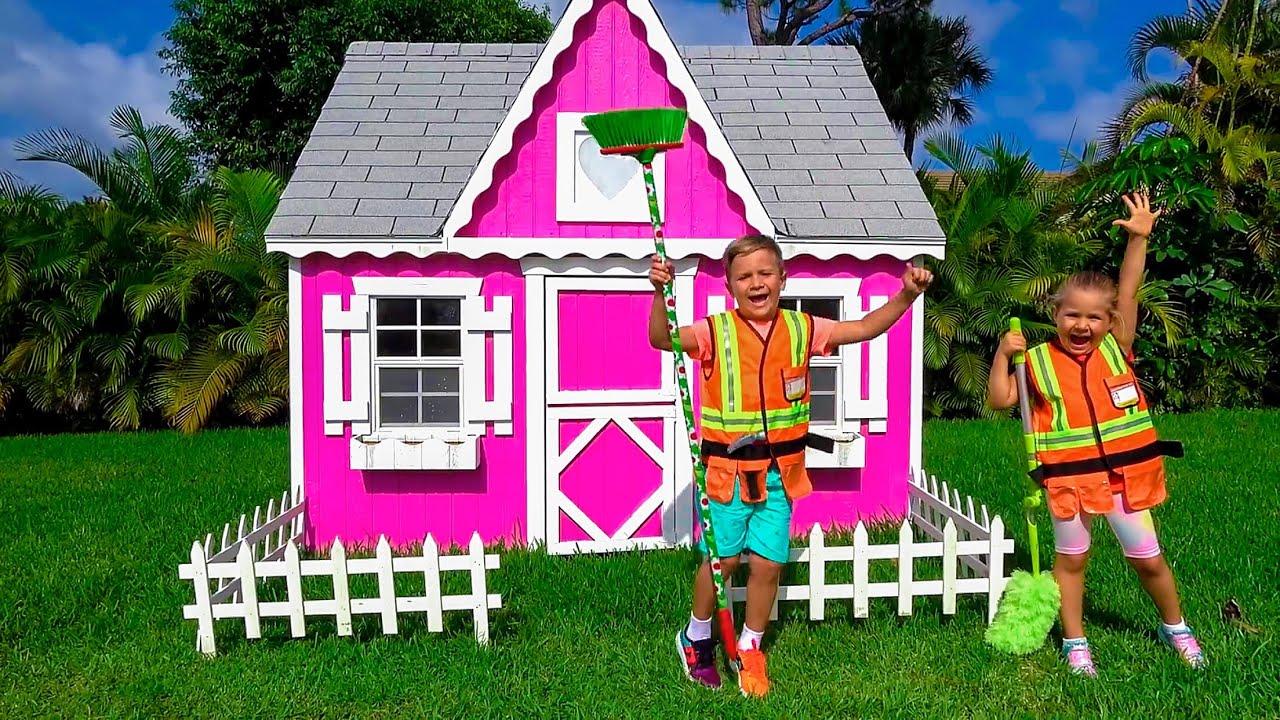 बच्चों के लिए प्ले हाउस के बारे में डायना और कहानियां