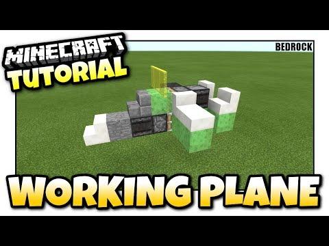 Minecraft - WORKING PLANE [ Redstone Tutorial ] MCPE / Xbox / Bedrock