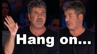 Simon Stops Him and Asks Him to Sing an Original Song, Watch What Happens!