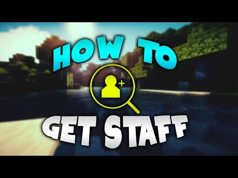 HOW TO GET STAFF FOR YOUR MINECRAFT SERVER!