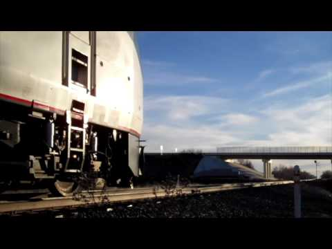 Amtrak Southwest Chief with Winter Park Advertisment Coach 12/27/16
