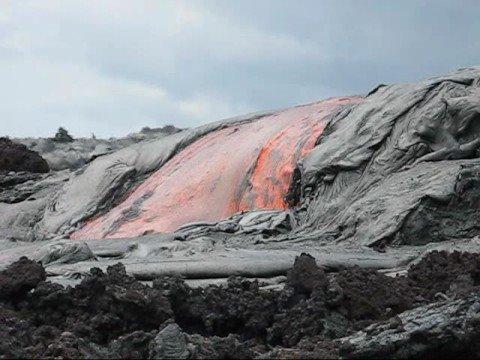 Kilauea Lava Flow Oct 8, 2008