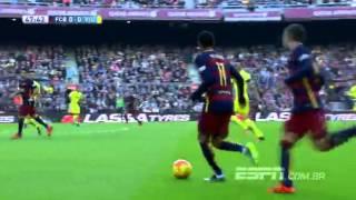 Neymar faz golaço   Melhores Momentos  Barcelona 3x0 Villarreal