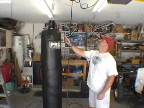How to Hang a Muay Thai Heavy bag to your ceiling