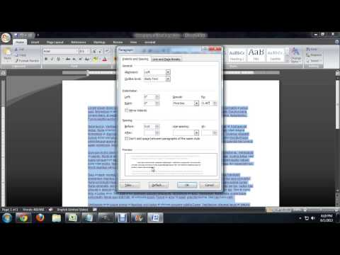 How to Set a Paragraph Indent in Word 2010 : Tech Niche