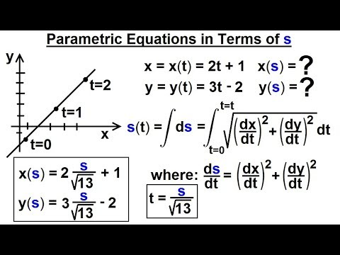 Calculus 3: Vector Calculus in 2D (33 of 39) Parametric Equation in Terms of s
