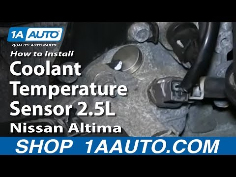How To Install Replace Coolant Temperature Sensor 2.5L Nissan Altima Sentra
