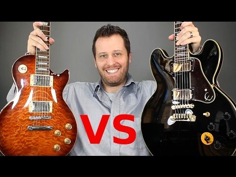 Les Paul vs 335 (Lucille) - Solid Body vs Semi-Hollow Tone Comparison!