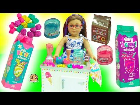 American Girl Milkshake Set, Scented Goo, Smiggle Erasers , Num Noms Surprise Blind Bags