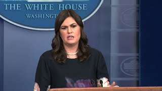 "White House Press Secretary Sarah Huckabee Sanders ""not aware"" of measures to prevent mass shooti…"
